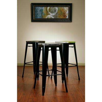 Bristow 30 in. Black Bar Stool (Set of 4)