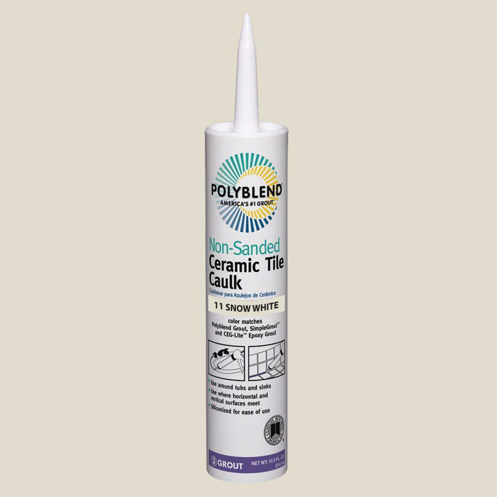 Polyblend #11 Snow White 10.5 oz. Non-Sanded Ceramic Tile Caulk