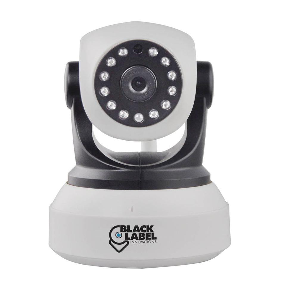 Black Label Cam Wireless HD 720P White Pan and Tilt, Wi-Fi