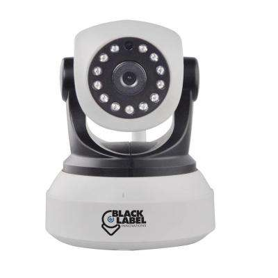 Black Label Cam Wireless HD 720P White Pan and Tilt, Wi-Fi Dome Camera with 2-Way Audio and Night Vision