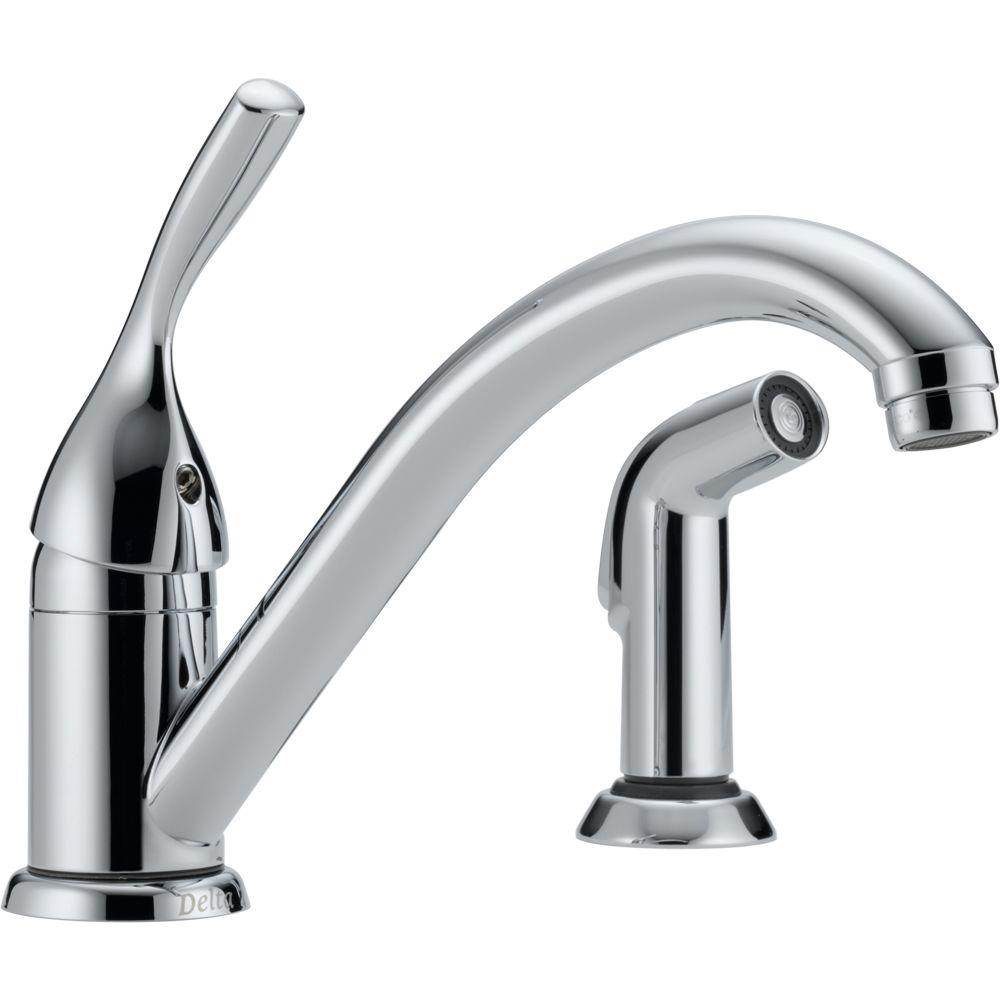 install delta kitchen faucet delta classic single handle standard kitchen faucet with 18818