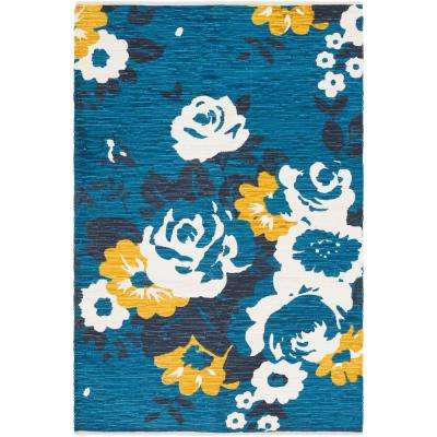 Elaine Carter Turquoise 5 ft. x 7 ft. 6 in. Indoor Area Rug
