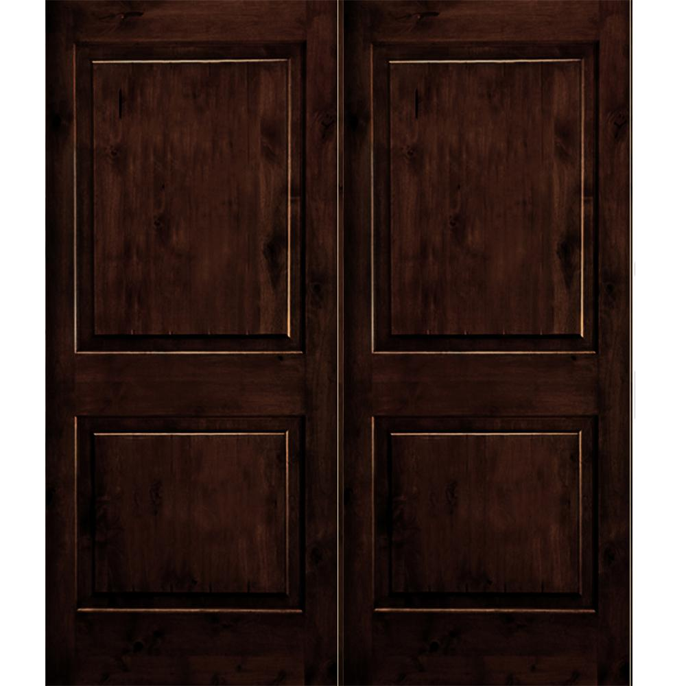 Krosswood Doors 30 In X 80 In Rustic Knotty Alder 2: Krosswood Doors 60 In. X 96 In. Rustic Knotty Alder 2