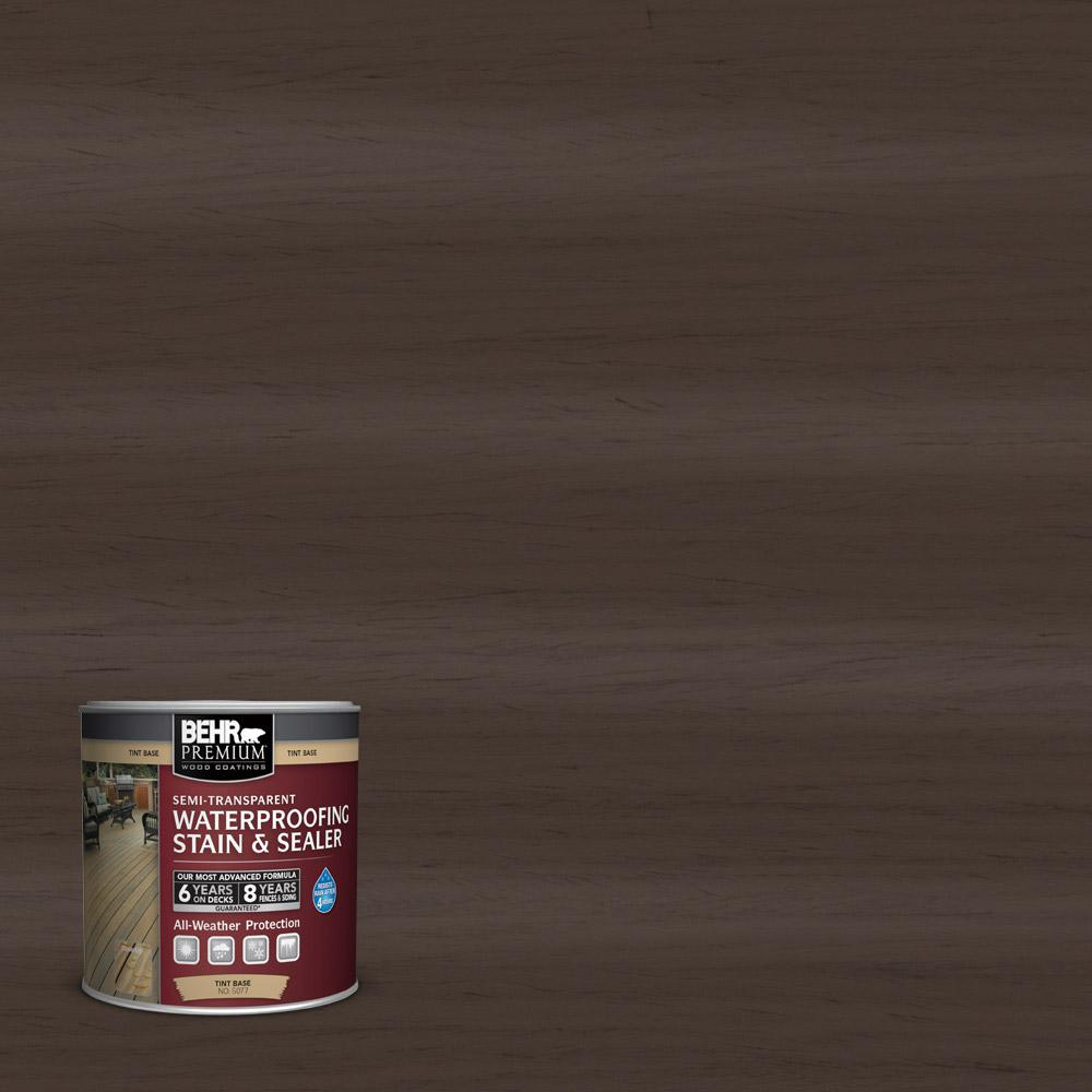 BEHR Premium 8 oz. #ST103 Coffee Semi-Transparent Waterproofing Stain and Sealer Sample