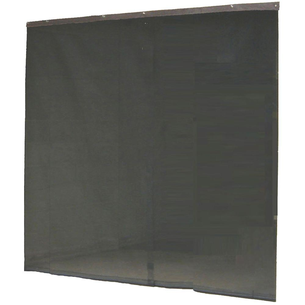 Instant screen 120 in x 96 in black garage screen door for Roll up screen door for garage