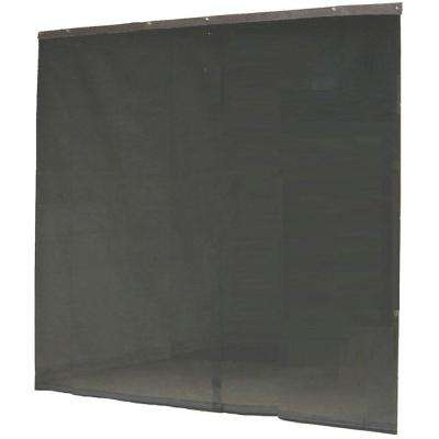 120 in. x 96 in. Black Garage Screen Door with Hardware and Roll-up Accessory