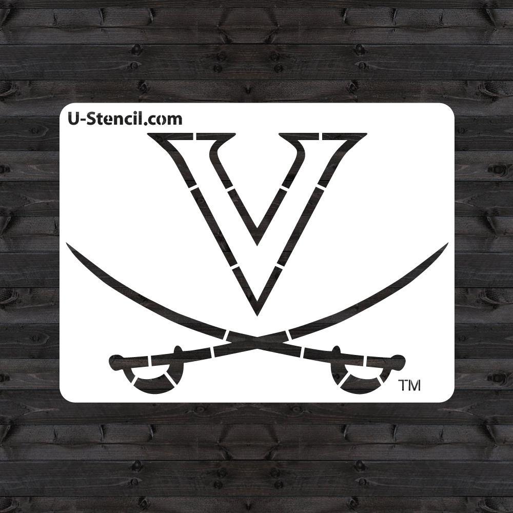 "Virginia ""V"" SABORS Mini Stencil"