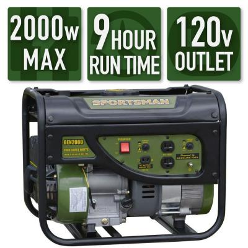 2,000/1,400-Watt Gasoline Powered Portable Generator