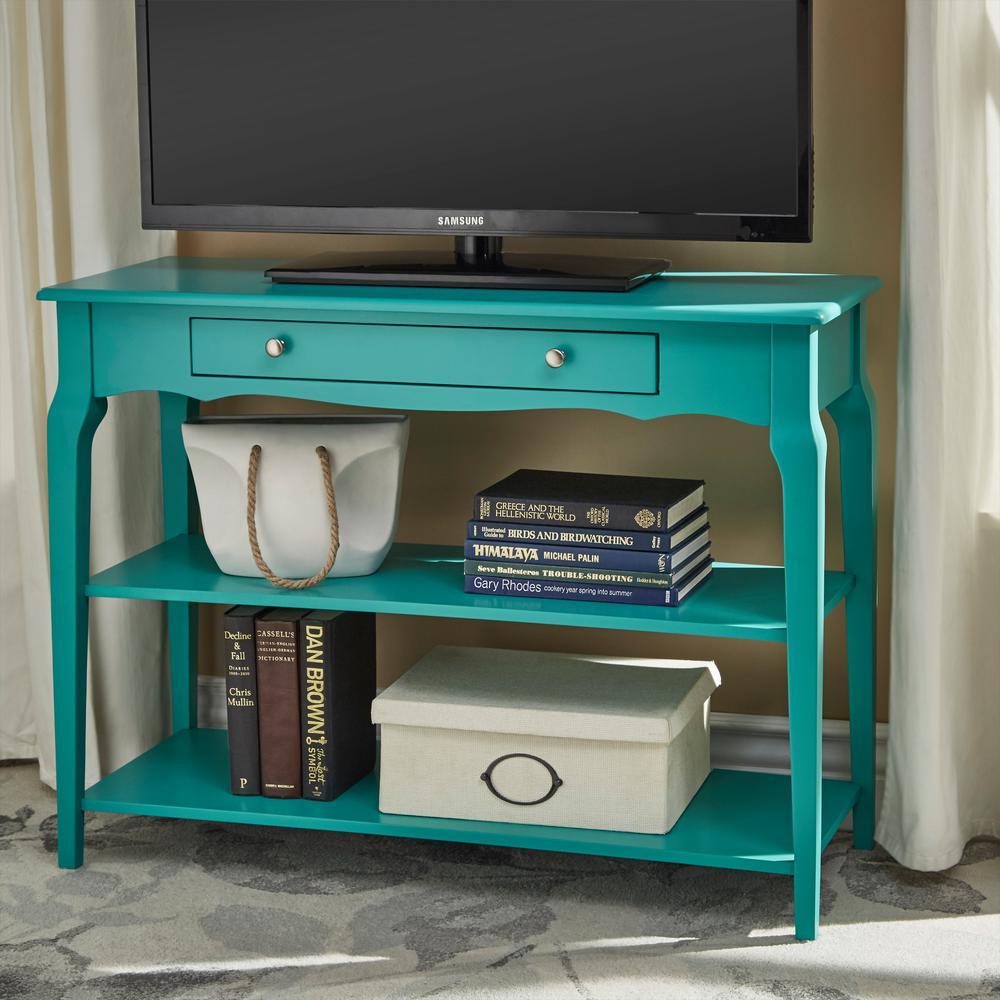 Marine Green Sofa Table Tv Stand