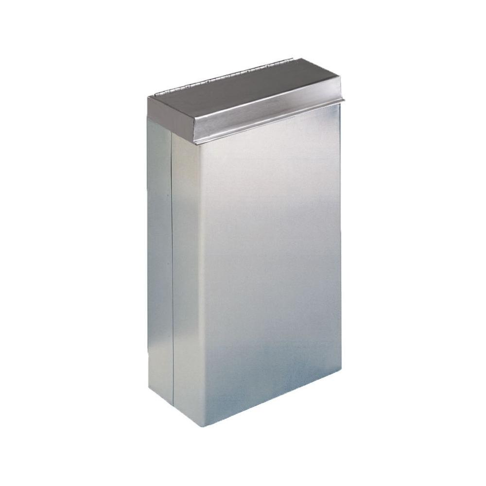 Stainless Solutions Wall Mounted Diaper Bin With Lid In