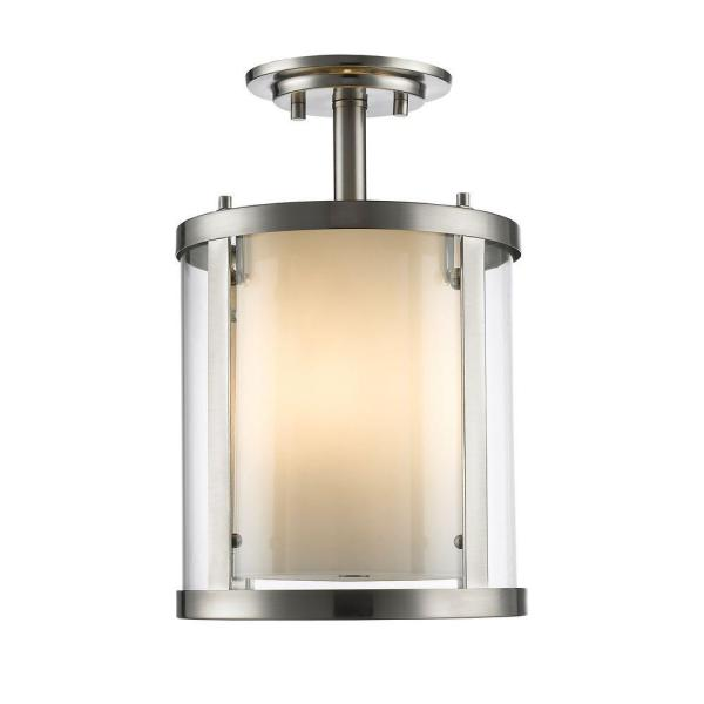 Wesson 3-Light Brushed Nickel Semi-Flush Mount Light