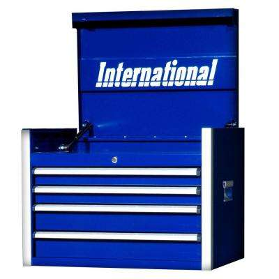 Pro Series 27 in. 4-Drawer Top Chest, Blue