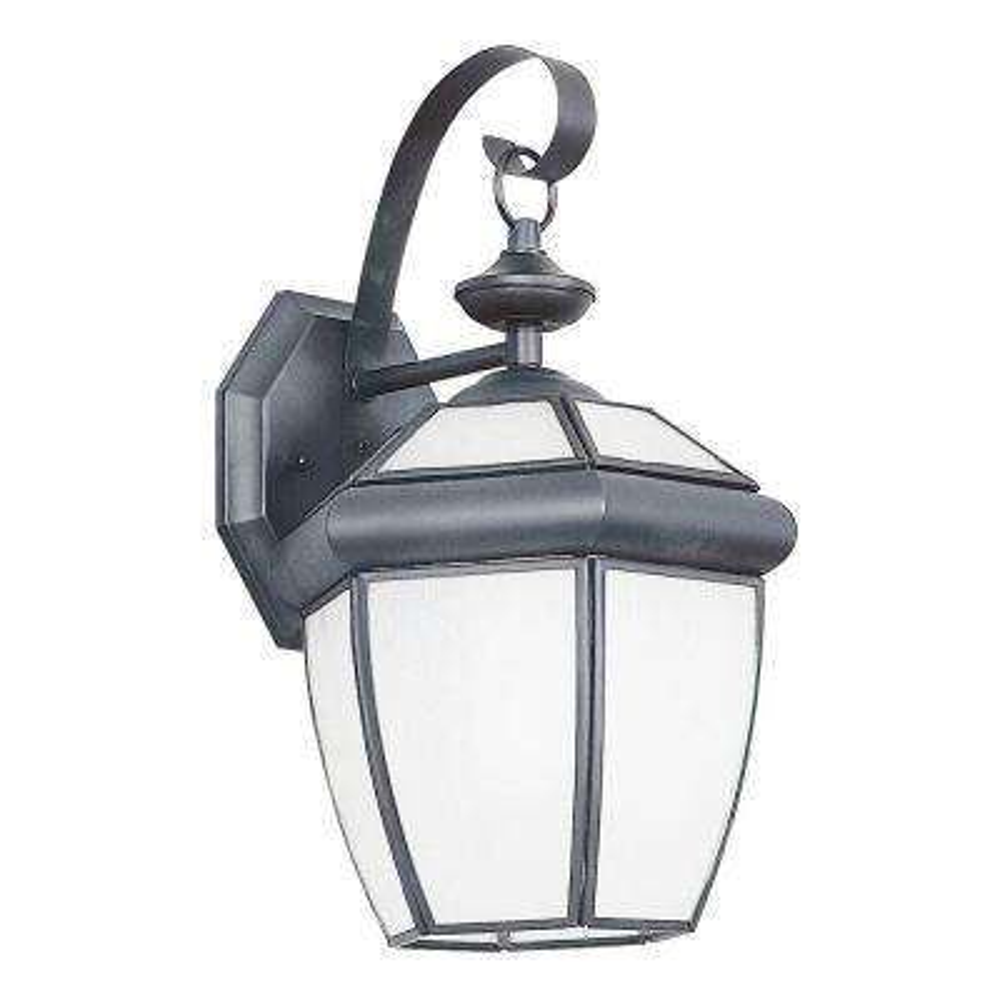 Fergerson 1-Light Satin Nickel Outdoor Wall Lantern
