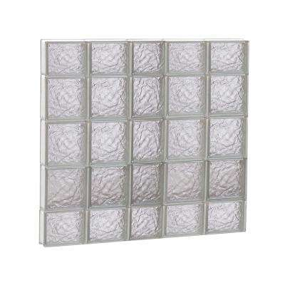 36.75 in. x 34.75 in. x 3.125 in. Ice Pattern Non-Vented Glass Block Window