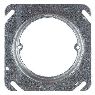 2-Gang 4 in. 4.3 cu. in. Pre-Galvanized Metal Square Mud Ring - 5/8 in. Raised