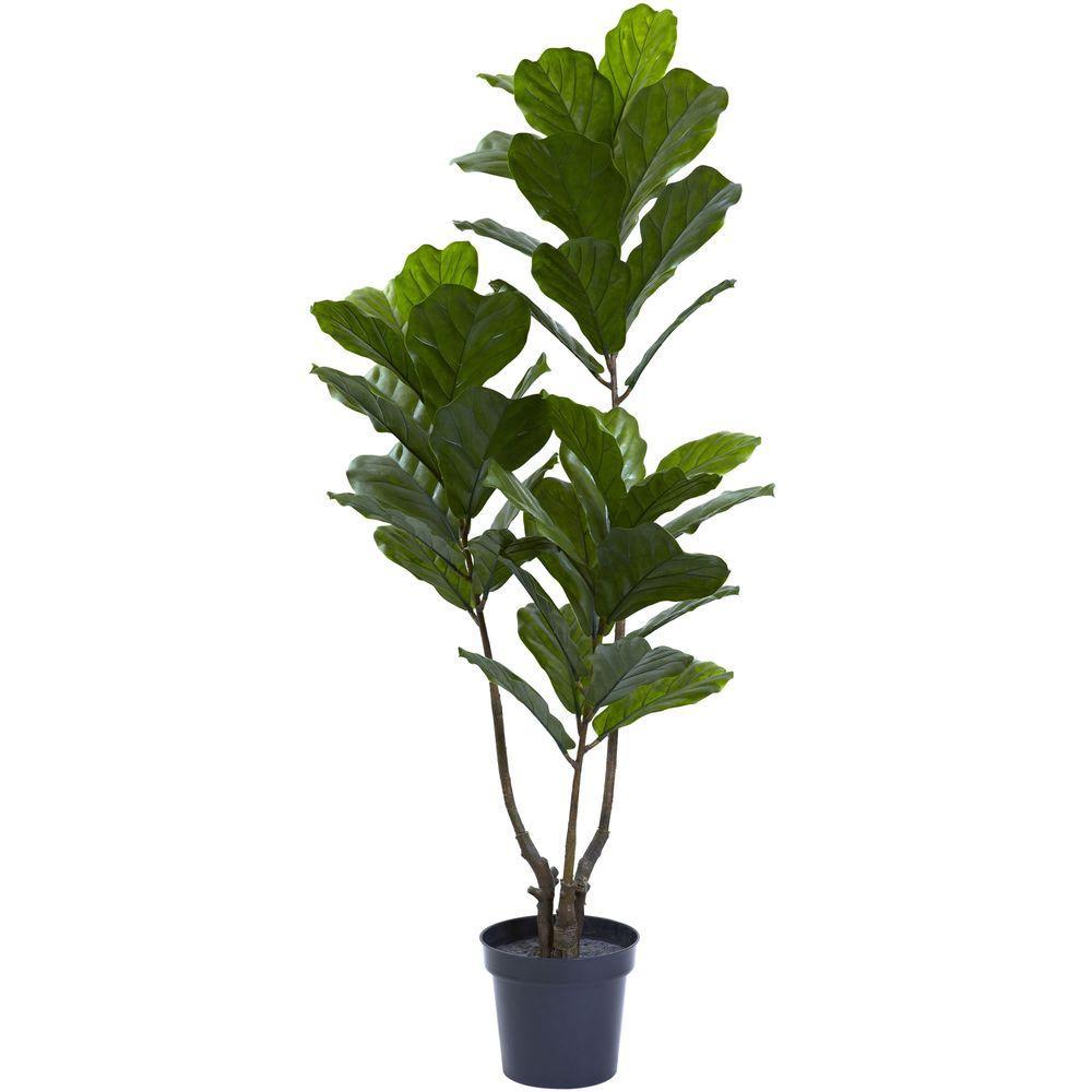 65 in. UV Resistant Indoor/Outdoor Fiddle Leaf Tree