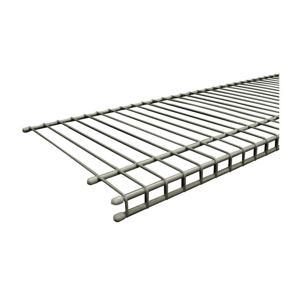SuperSlide 72 in. W x 12 in. D Nickel Ventilated Wire Shelf