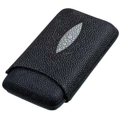 Calder Stingray Patterned Leather Cigar Case