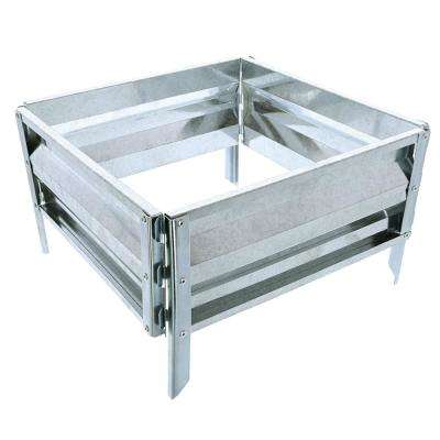 13.5 in. x 14.25 in. Silver Raised Garden Bed