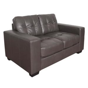 Terrific Corliving Club 3 Piece Tufted Brownish Grey Bonded Leather Interior Design Ideas Gentotthenellocom