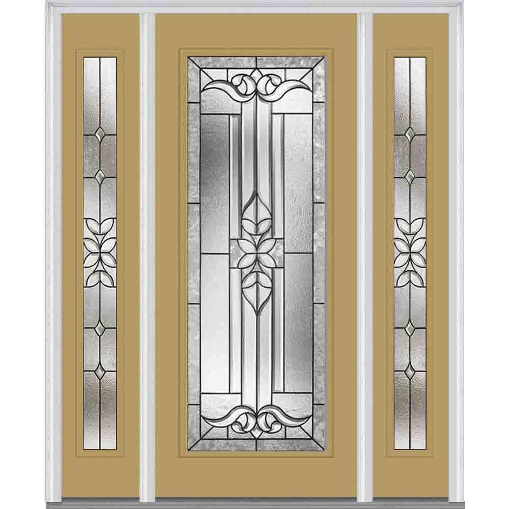 MMI Door 60 in. x 80 in. Cadence Right-Hand Inswing Full Lite Decorative Painted Steel Prehung Front Door with Sidelites