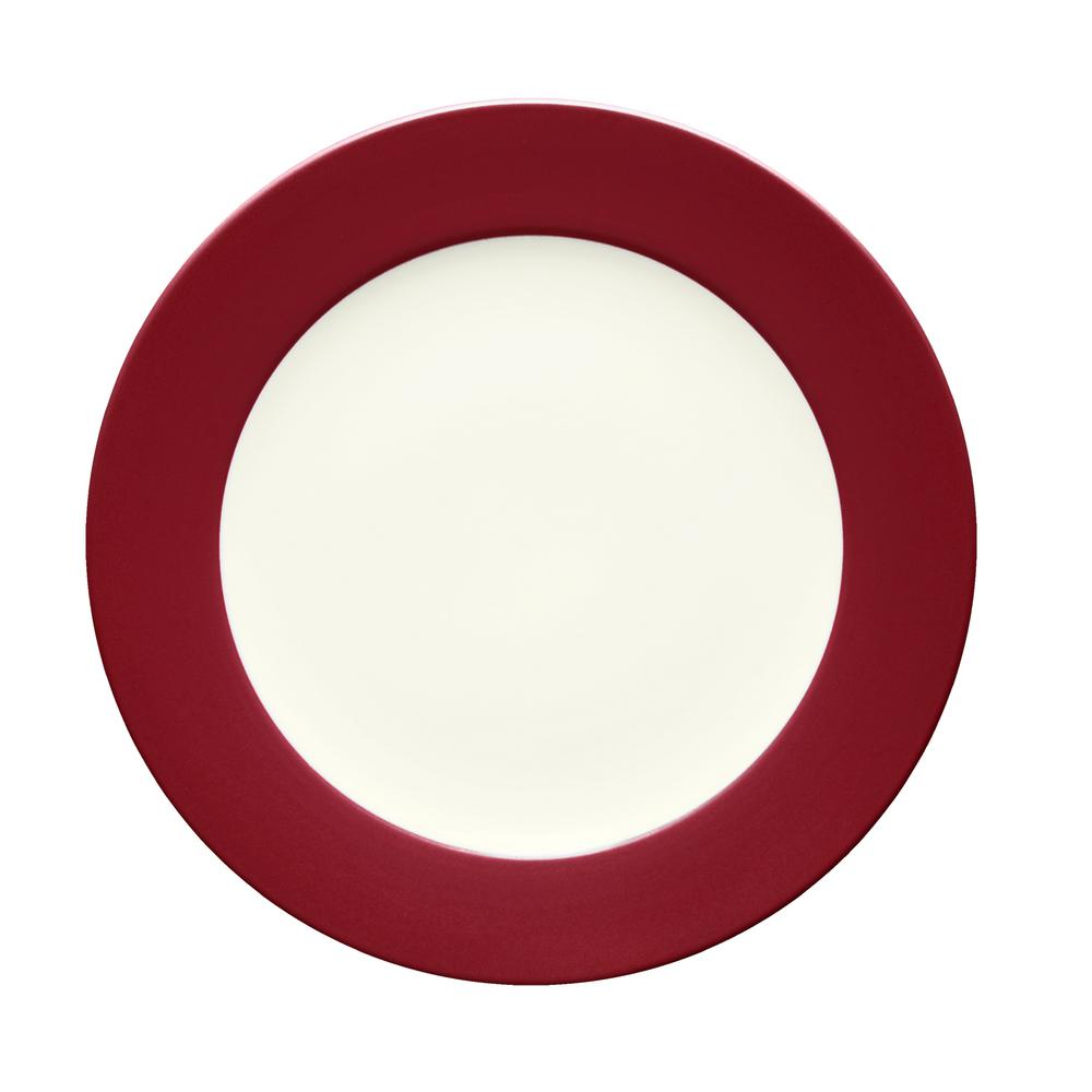 Colorwave 12.5 in. Raspberry Rim Round Platter