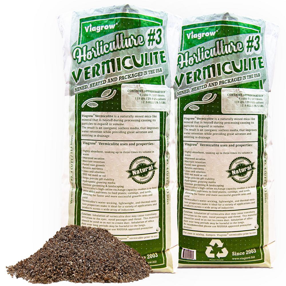 4 cu. ft./29.9 Gal./113 l Horticultural Vermiculite (2-Pack)