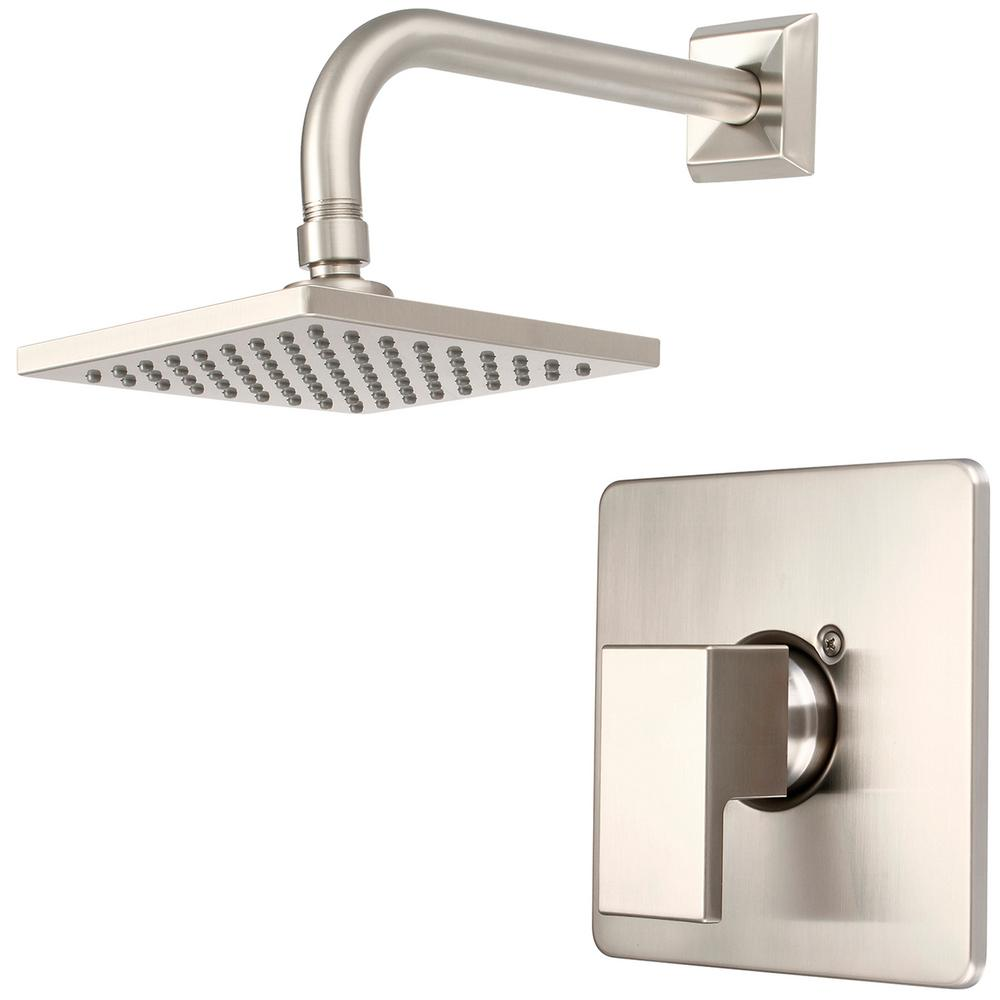 Pioneer Faucets Mod 1-Handle Shower Trim Kit in Brushed Nickel (Valve Not Included)