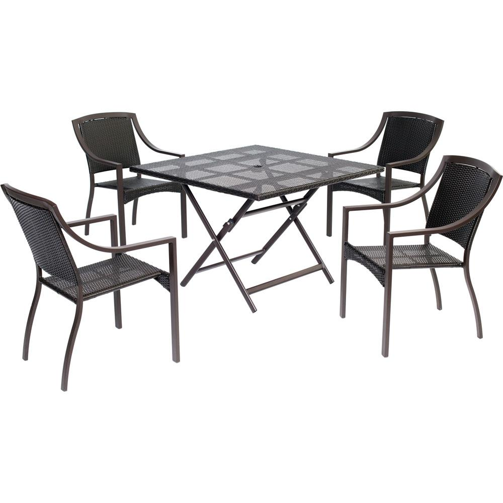 Cambridge Aluminum Outdoor Dining Set Chairs Collapsible Square