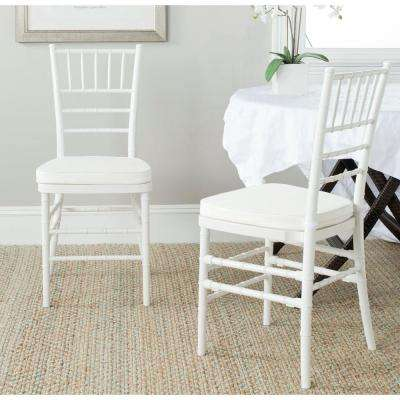 Carly White Side Chair (Set of 2)