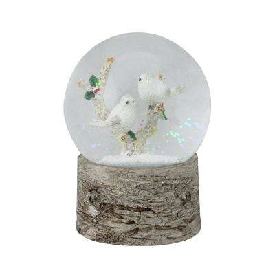 6 in. Christmas Cardinals and Joy Inspirational Musical Snow Globe Glitterdome in Red