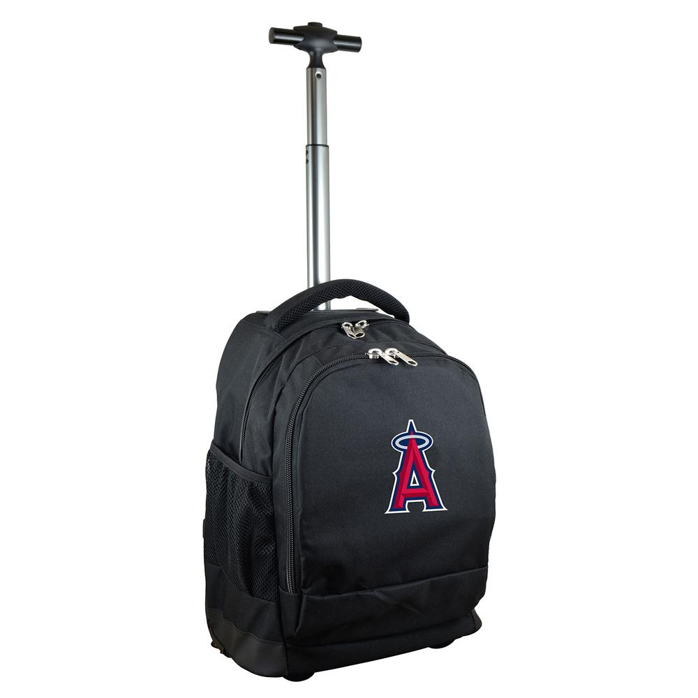 MLB Los Angeles Angels 19 in. Black Wheeled Premium Backpack