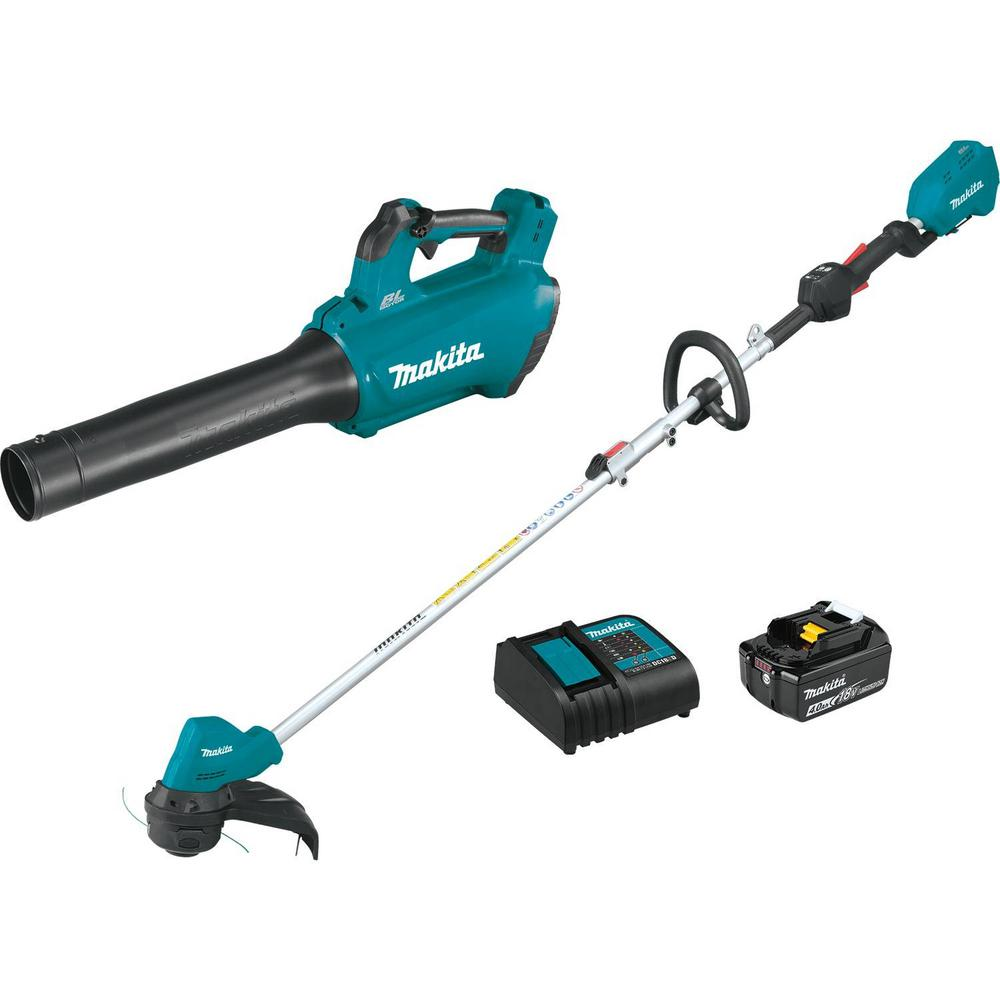 Makita 18-Volt 4.0 Ah LXT Lithium-Ion Brushless Cordless Combo Kit (2-Piece)