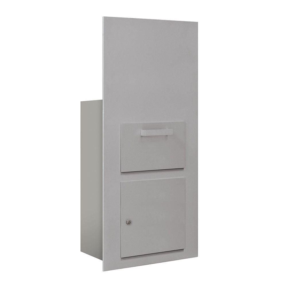 Salsbury Industries 3600 Series Collection Unit Aluminum USPS Front Loading for 7 Door High 4B Plus Mailbox Units