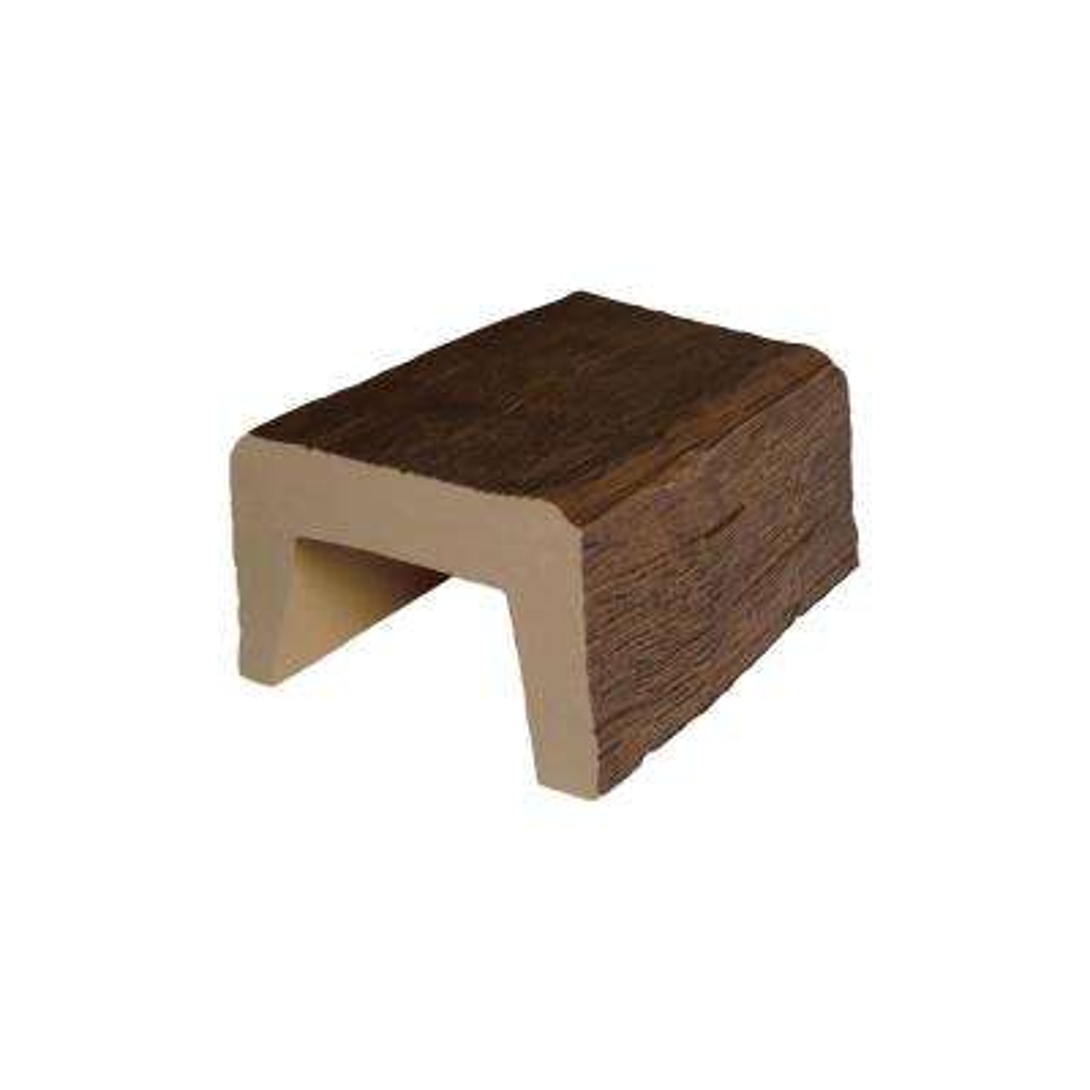 5-7/8 in. x 3-7/8 in. x 6 in. L Medium Oak Modern Faux Wood Beam Sample