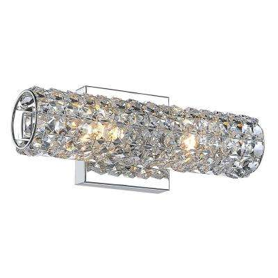 Chaselyn 2-Light Chrome Wall Vanity Light