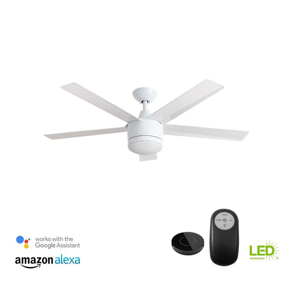 Bond Smart Wifi Ceiling Fan Remote Hub Bd 1000 The Home Depot Hunter Light Kit Wiring Diagram In Addition Power Factor Integrated Led Indoor White With Works Google Assistant And Alexa