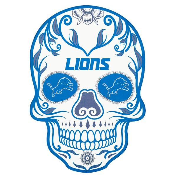 Applied Icon Nfl Detroit Lions Outdoor Skull Graphic Small Nfos1101 The Home Depot