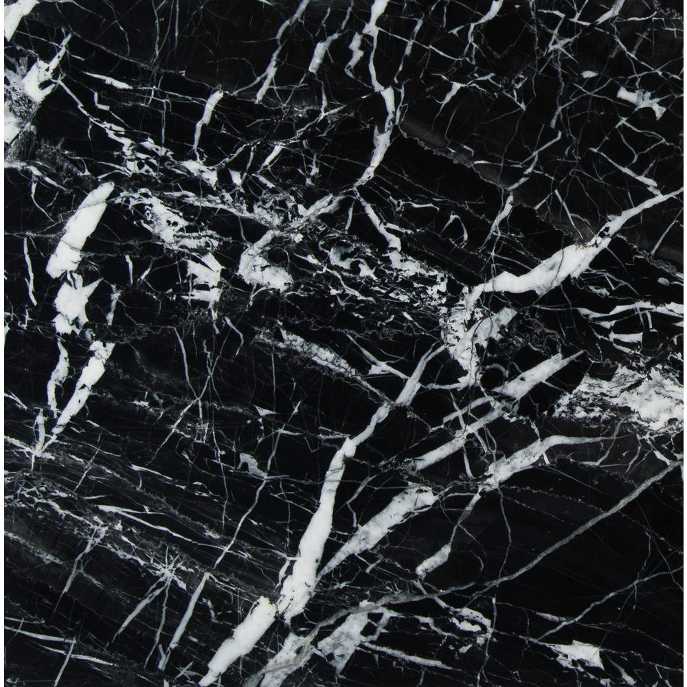 MSI Nero Marquina 12 in. x 12 in. Polished Marble Floor and Wall Tile (5 sq. ft. / case)