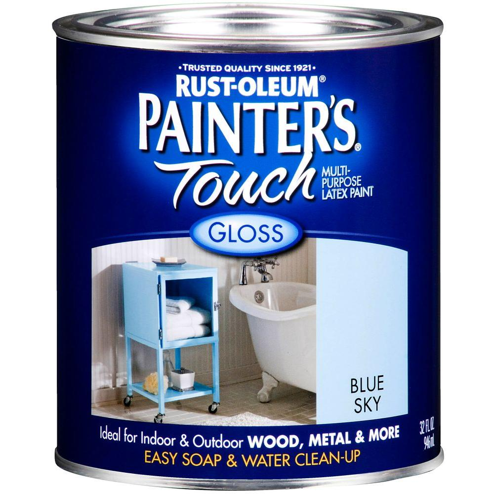 32 oz. Ultra Cover Gloss Blue Sky General Purpose Paint (Case