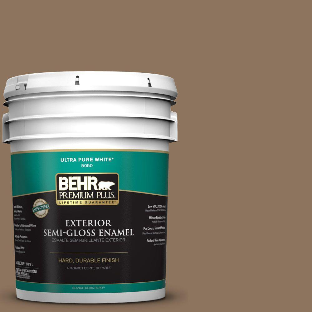 BEHR Premium Plus 5-gal. #N260-6 Outdoor Cafe Semi-Gloss Enamel Exterior Paint