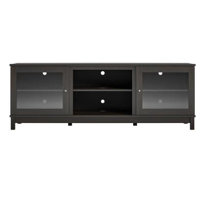 Andele 71 in. Espresso Particle Board TV Stand Fits TVs Up to 70 in. with Storage Doors