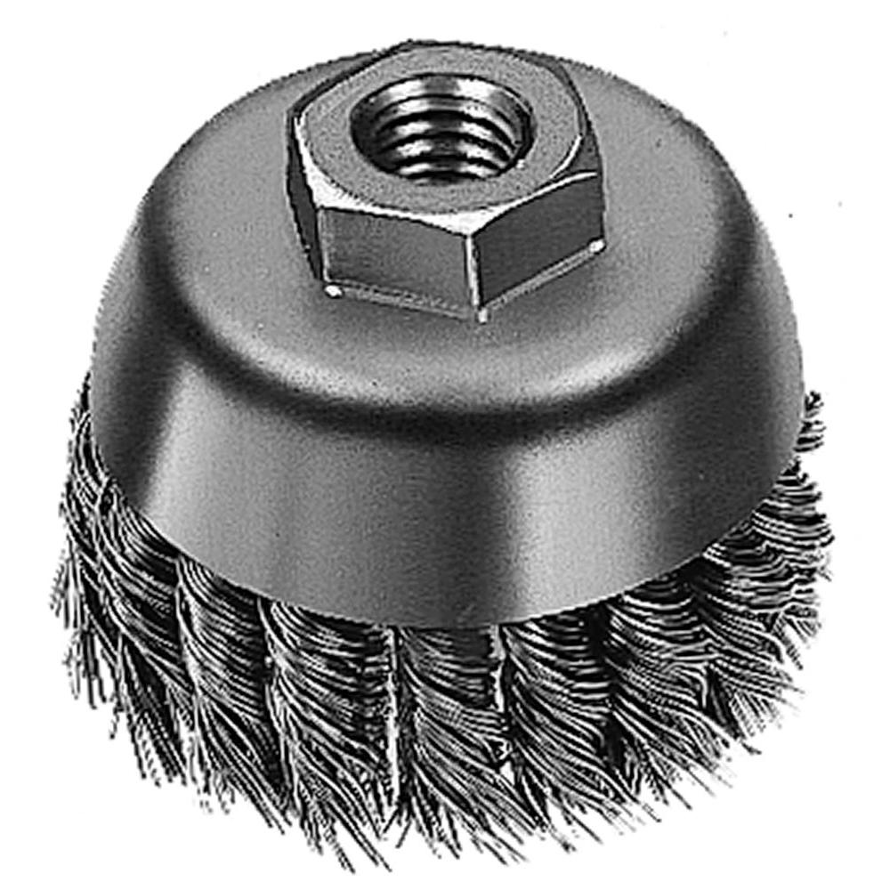 Milwaukee 3 in. Brush Knot Cup-48-52-5040 - The Home Depot