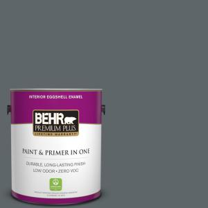 1 gal. #N450-6 Binary Star Eggshell Enamel Zero VOC Interior Paint and Primer in One