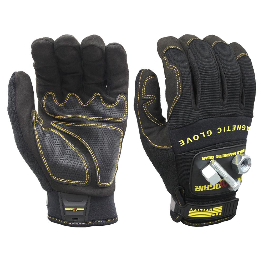 MagnoGrip Pro Utility Large Magnetic Glove with Touch-Screen Technology