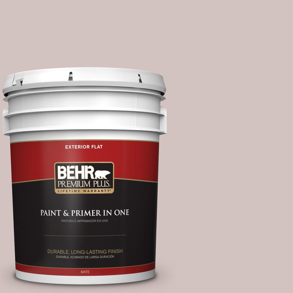 BEHR Premium Plus 5 gal. #MQ3-1 Josephine Flat Exterior Paint and Primer in One
