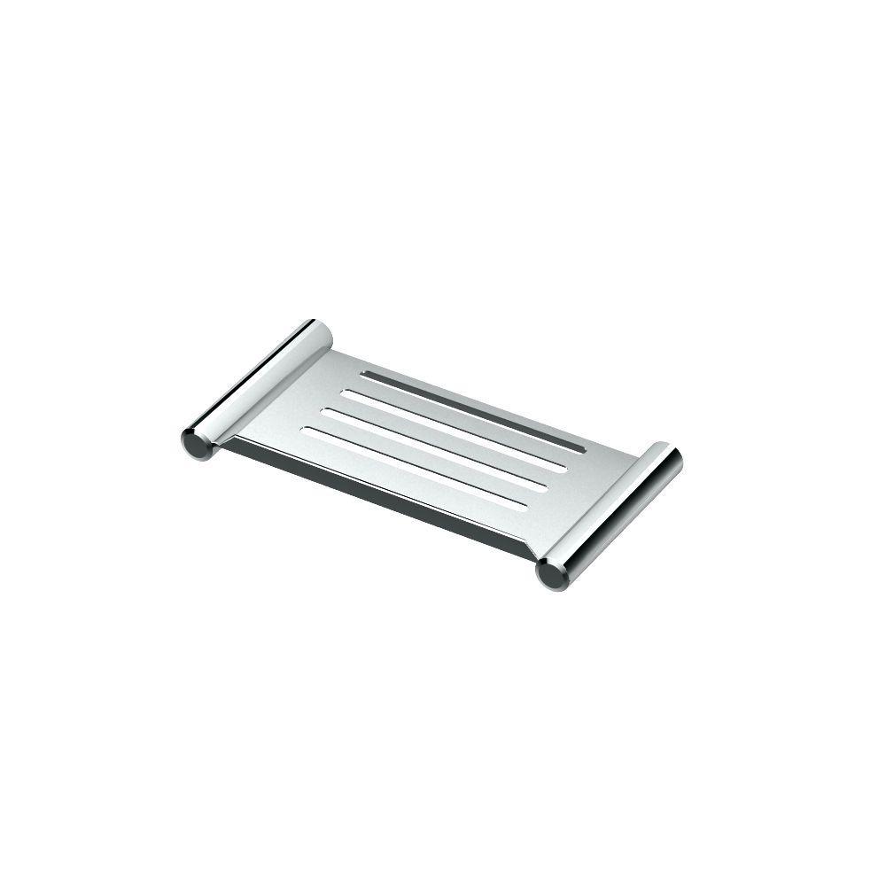 10 in. W Elegant Shower Shelf in Chrome
