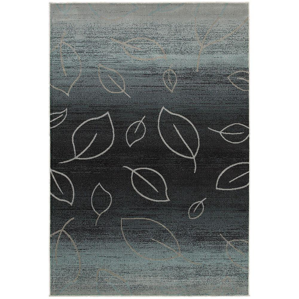 LR Resources Adana Blue 1 ft. 10 in. x 3 ft. 1 in. Plush Accent Indoor Rug