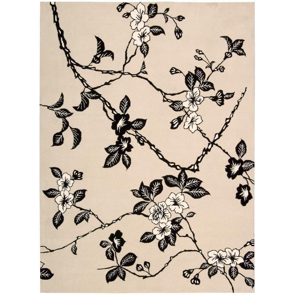 Modern Elegance Black/White 6 ft. x 7 ft. Area Rug
