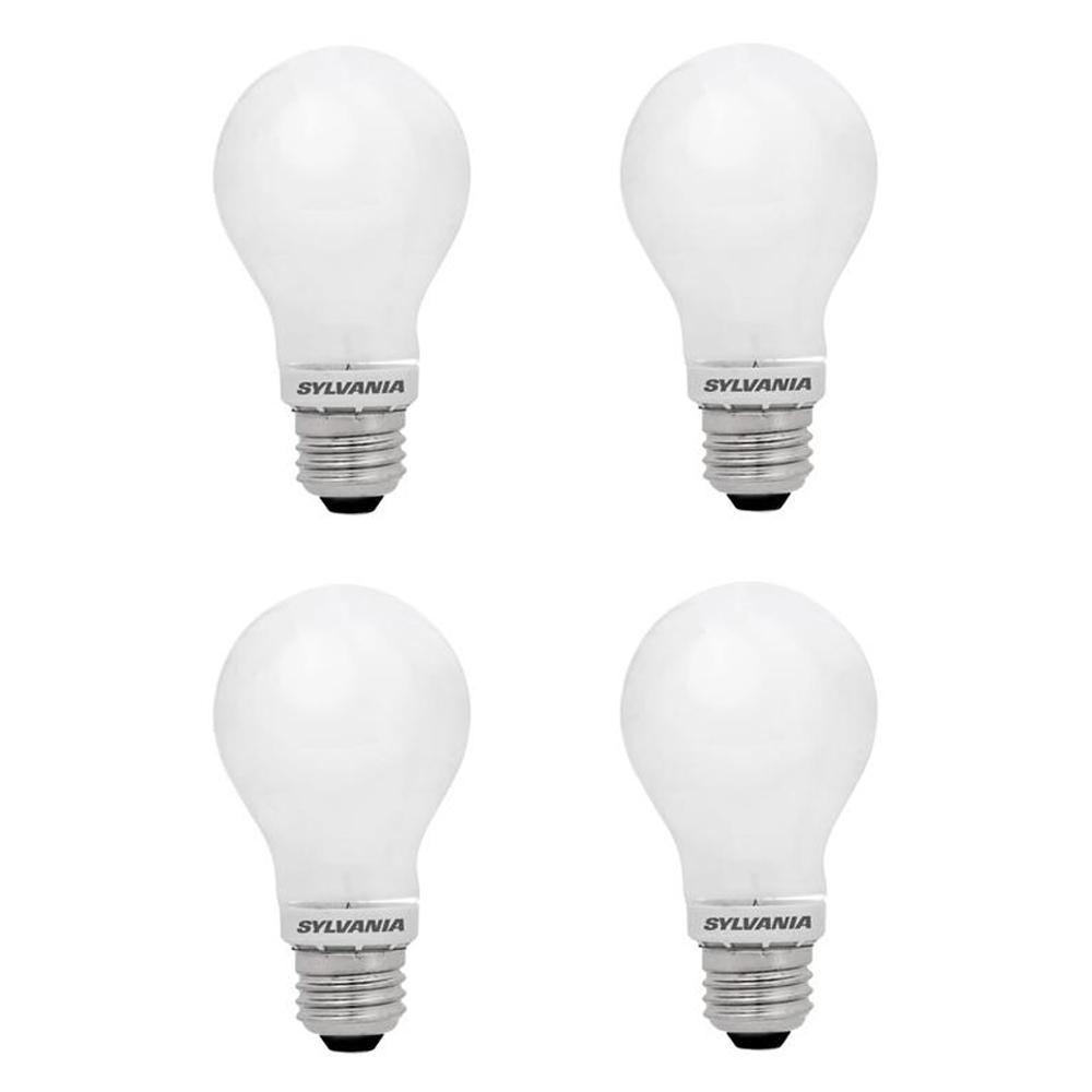 40-Watt Equivalent A19 Energy Saving Household LED Light Bulb Daylight (4-Pack)